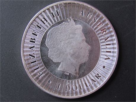 2016 Elizabeth II 1 OZ 9999 Silver Australian Coin
