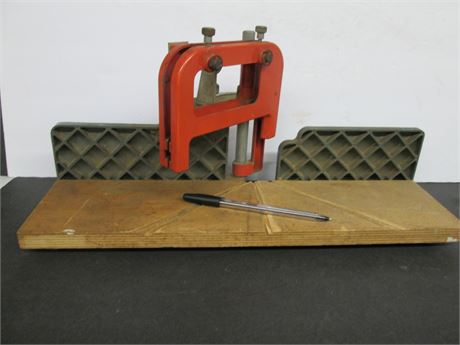 Vintage Metal Table Top Miter Saw Cutting Angle Guide