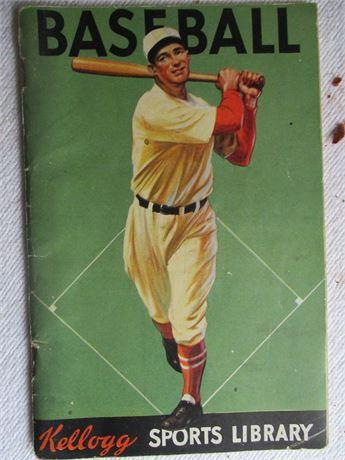 Rare Vintage 1934 Kellogg Sports Library Baseball Book