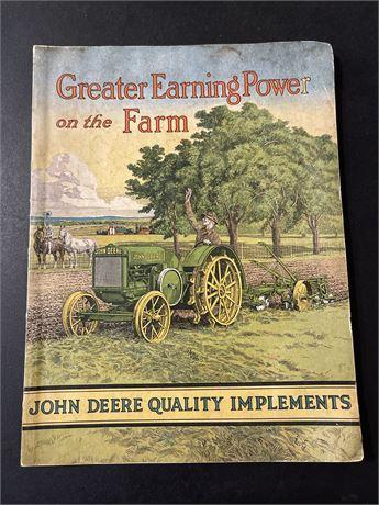 John Deere 1931 Catalogue- Authentic Original