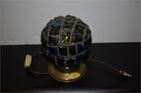 Vintage Glass Block lamp from Iran-Tested-Works
