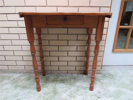 Small Kidney Table, Vintage Wood