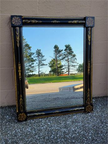 Ebonized Hitchcock Stenciled Wall Mirror
