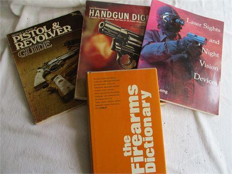4 Gun Books, Pistols Firearms, Hand Guns, Lon Guns & Directory Lot