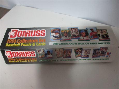 1991 Donruss Complete Box Set MLB Player Baseball Cards