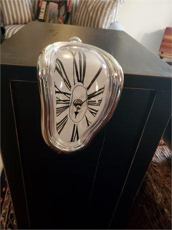 Dali-esque Melting Quartz Shelf / Mantle Clock