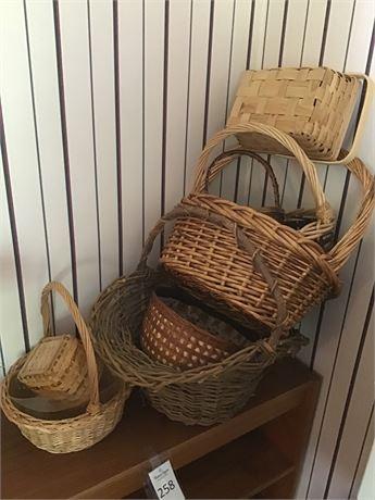 Variety of Wicker Baskets