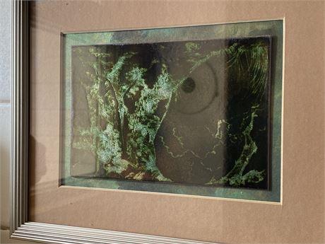 M Cole 1985 Framed Metal Art
