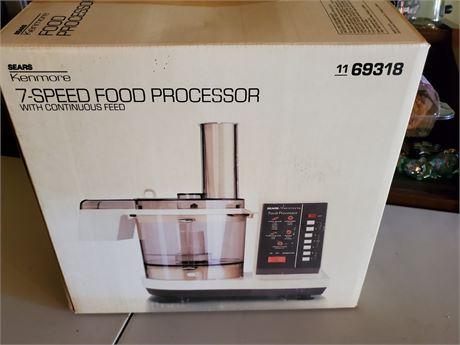 Sears Kenmore 7 Speed Food Processor NIB