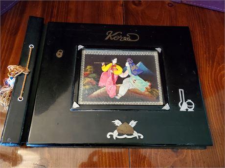 Vintage Black Laquer Korea Photo Album Unused