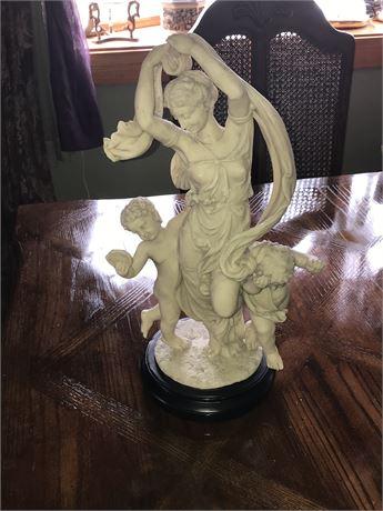 Goddess with Cherubs Heavy Composite Statue