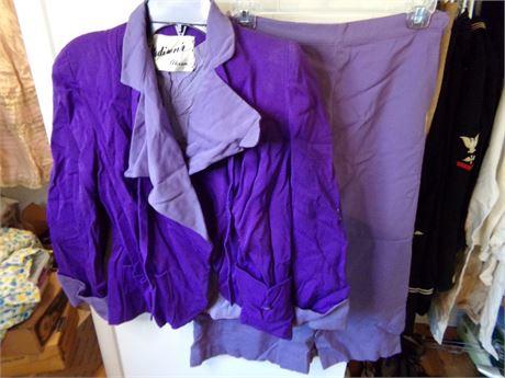 Vintage Madison's of Akron Purple Suit