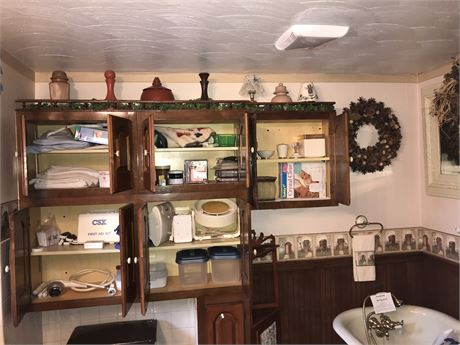 Inside and Atop the Cabinets Lot - (Must Take ALL)