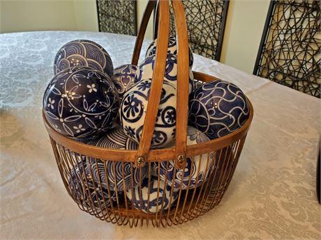 Basket of Ceramic Balls