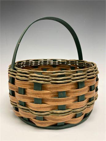 Splint Wood Woven Country Basket