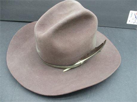 Premium John B Stetson XXXX Beaver Dk Brown Cowboy Hat 7 1/2