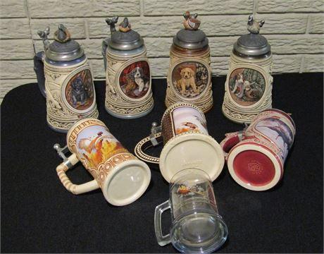 "Anheiser Busch ""First Hunt"" Series Collectible Beer Steins"