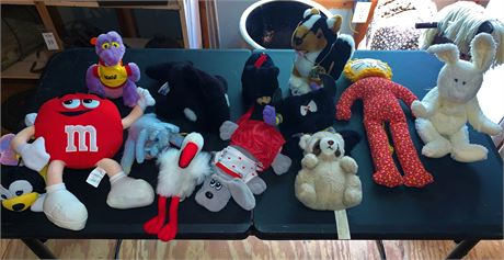 Assorted Stuffed Plush Animals