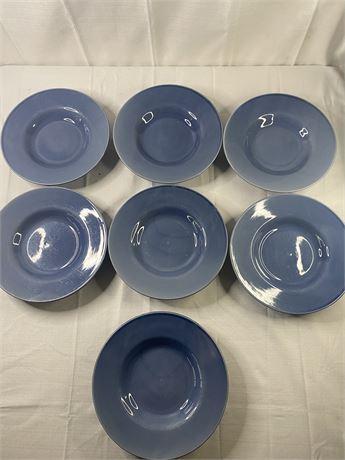 Garcia bowls. Blue. Set of 7