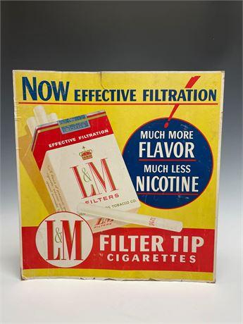 L&M Cigarettes Vintage Advertising Sign