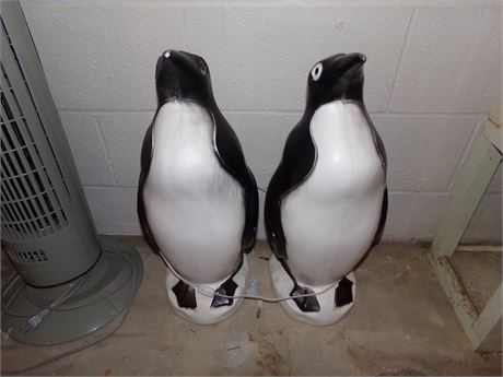 Blow Mold Penguin Lights, Vintage