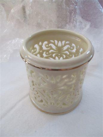 "Lenox Fine China Ivory 3"" Filigree cut Pattern Votive Candle Holder"