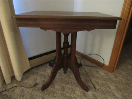 Small Library Table, Vintage Wood
