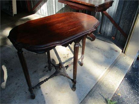 "Antique Baroque Dark Wood 32"" X 20"" Accent Plant Table"