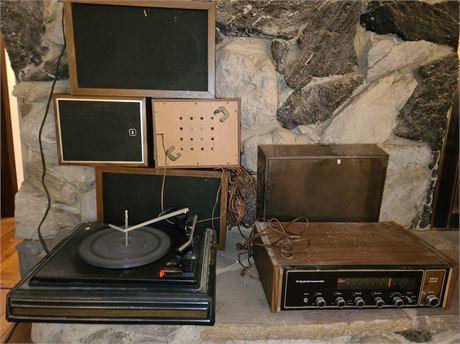 Garrard Turntable & Teledyne Receiver & Speakers