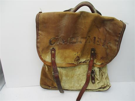 Antique 19th Century Leather CARKEEK Pony Express Rider Mail Bags