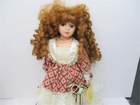 "Vintage Like New Genuine Emerald Collector's 16""  ""Karen"" Doll"