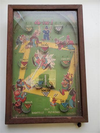 Antique Poosh-M-Up Tabletop Pinball Game