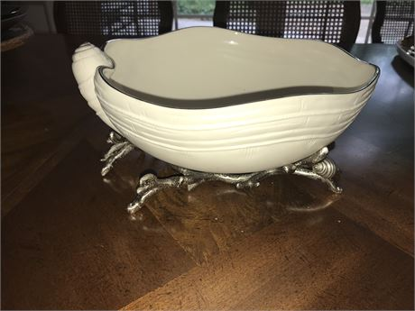 """Lenox """"Sea, Sand & Sky"""" Large Bowl with Stand"""