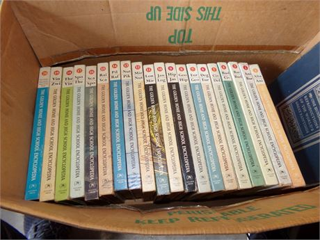 The Golden Home and High School Encyclopedia 20 Volumes and Art Book