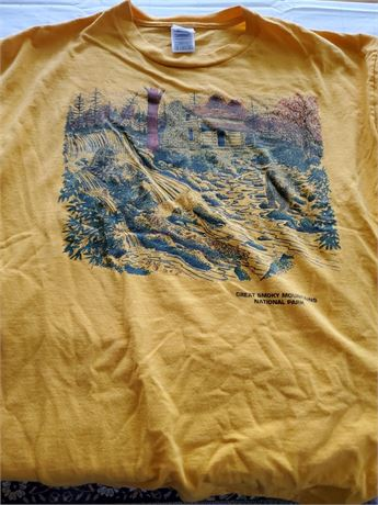Vintage Great Rockie Mountains National Park T Shirt XL