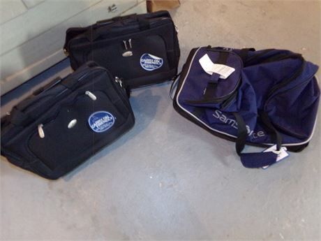2 Carry On Bags, and a Samsonite Carry On Duffle