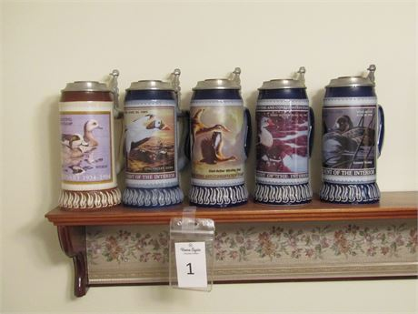 Dram Tree Collectible Ceramic Beer Steins With Lids