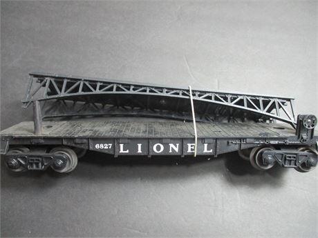 Lionel Vintage 6827 Flat Bed Gondola style Railroad Car