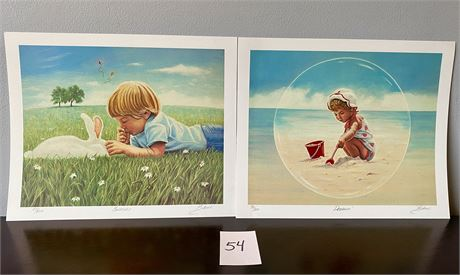 Adorable Signed and Numbered Limited Edition Lithographs by Glen Fortune Banse