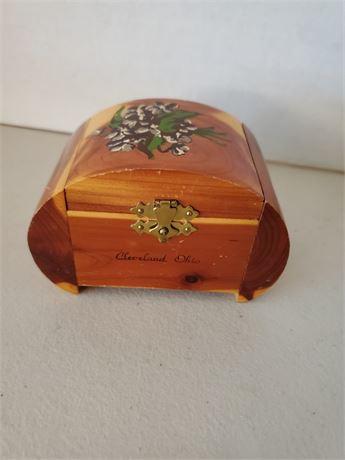 Vintage Cleveland Ohio Wood Souvenier Box