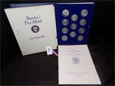 Commemorative Medals of the Revolutionary War battles