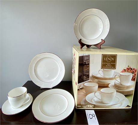 Lenox Continental Dining Gold Fine Bone China, 20-Piece Set