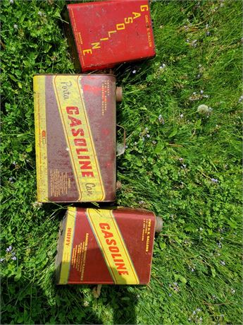 3 Vintage HUFFY Steel Gas Cans