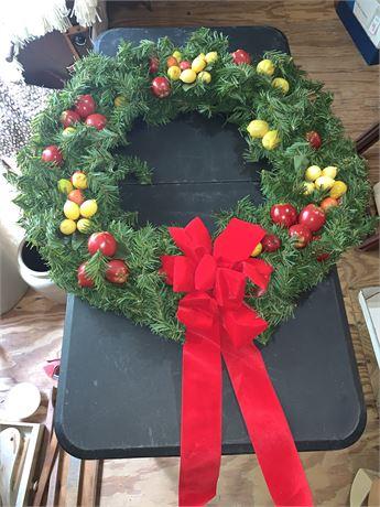 Artificial Fruit Wreath
