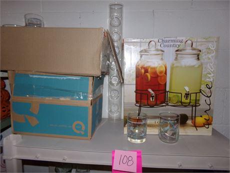 Beverage Dispensers & Glasses