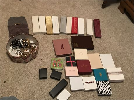 Jewelry Lot in Boxes
