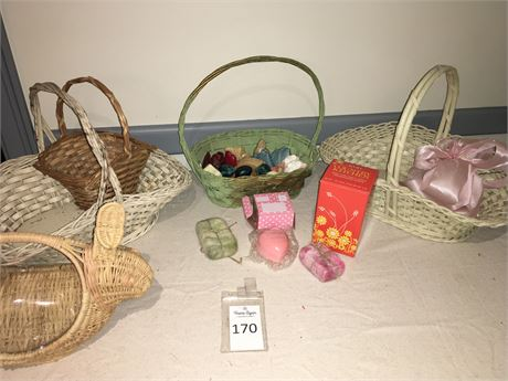 Assorted Baskets and Novelty Soap Bars