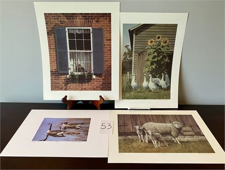 Gerald H. Lubeck Numbered and Signed Limited Edition Lithographs