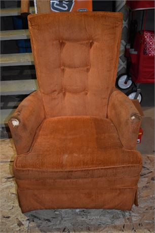 Swivel Rocker Chair-1970's-Great reupholster project
