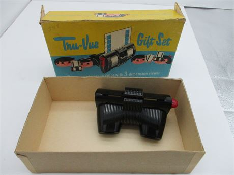 Antique Bakelite TRU-VUE 3 D Viewmaster Like Collectible in Box